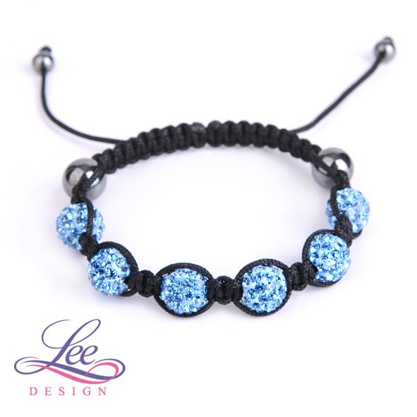 2d0c0cf8e Shamballa náramek Crystal světle modrá
