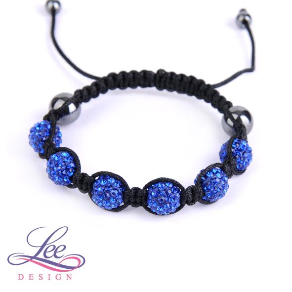 6e3d15db4 Shamballa náramek Crystal modrá