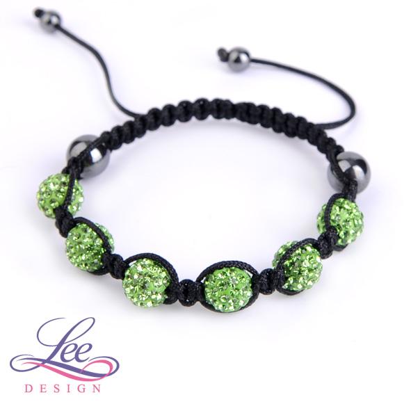 142d7a896 Shamballa náramek Crystal světle zelená