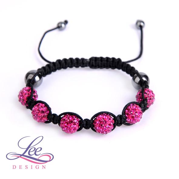 0ef1bb5a5 Shamballa náramek Crystal růžovo-fialová
