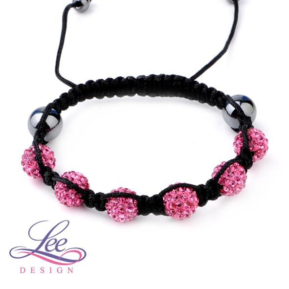 02693f750c5 Shamballa náramek Crystal růžová