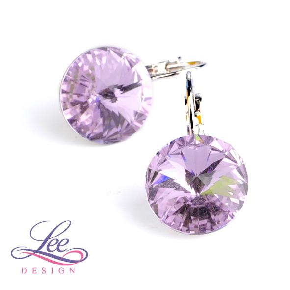 Náušnice Swarovski Elements Rivoli Violet 14 mm KL 0960dc51a83