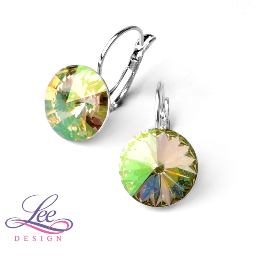 28183edc8 Náušnice se Swarovski® crystals Rivoli 14KL Crystal Luminous Green