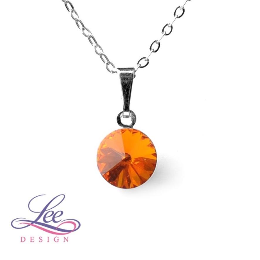 8aad020e920 Dětský náhrdelník se Swarovski® crystals RIVOLI 8 Tangerine