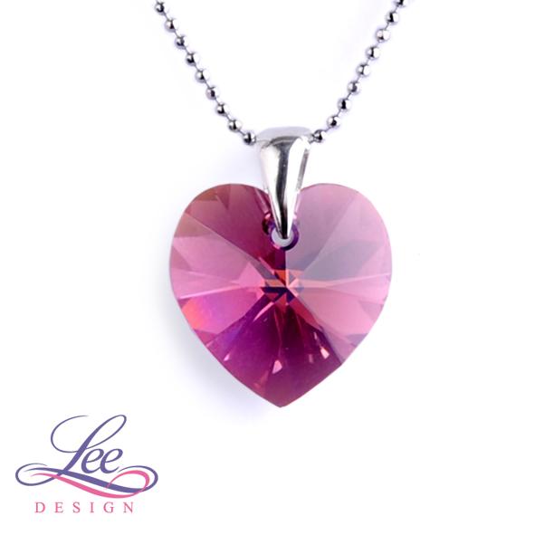 2a07edaf4 Náhrdelník se Swarovski® crystals Srdce 18 Amethyst AB
