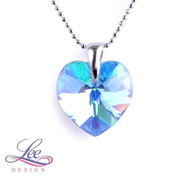 cc07a52fb Náhrdelník se Swarovski® crystals Srdce 18 Light Sapphire AB