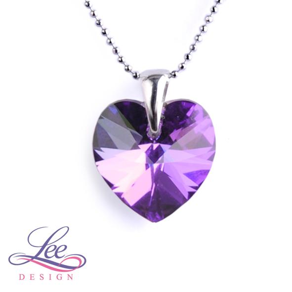 Náhrdelník se Swarovski® crystals Srdce 18 Crystal Heliotrope 278c1108008