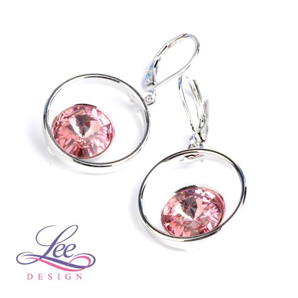 Náušnice se Swarovski® crystals Kruh Light Rose b24333b4b9c