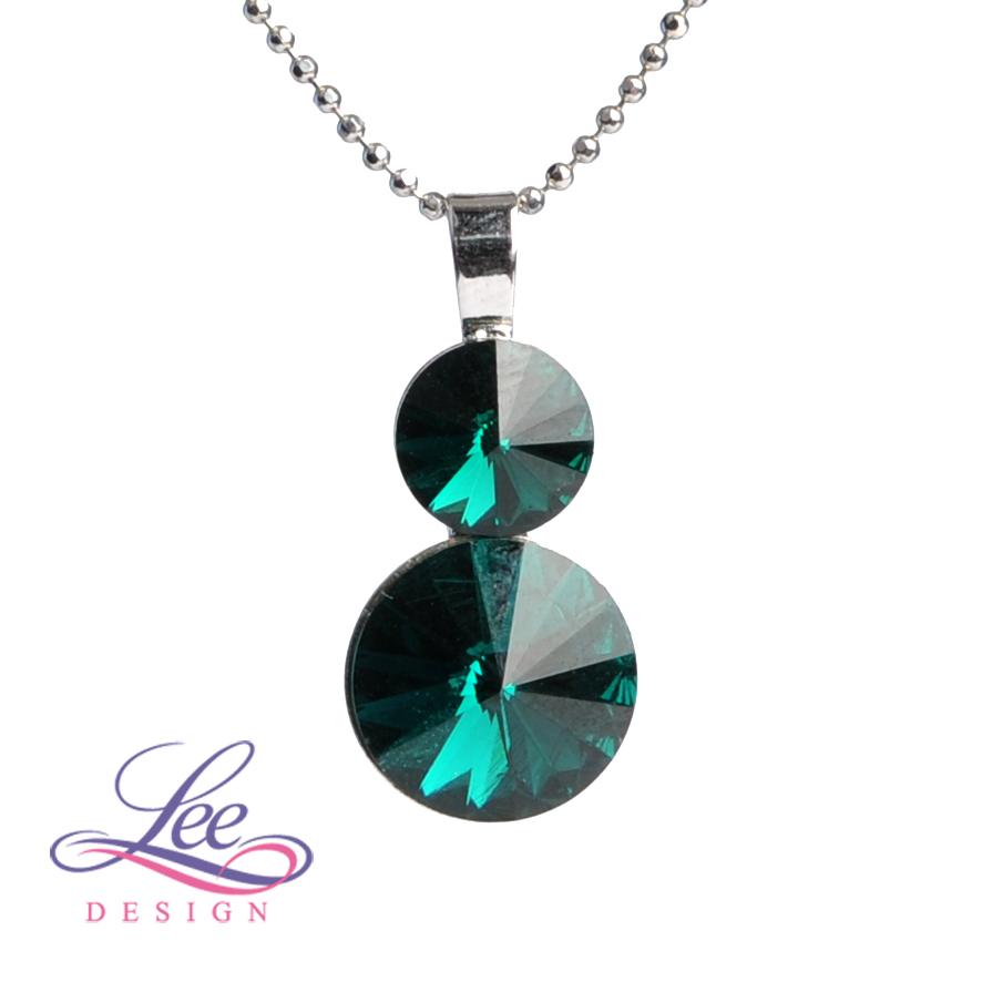 c98225d0be5 Náhrdelník se Swarovski® crystals Rivoli 8+12 Emerald