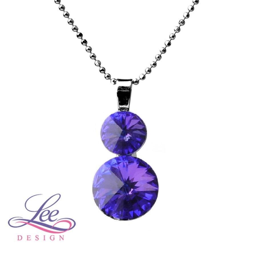 Náhrdelník se Swarovski® crystals Rivoli 8+12 Crystal Heliotrope ff9606a5465