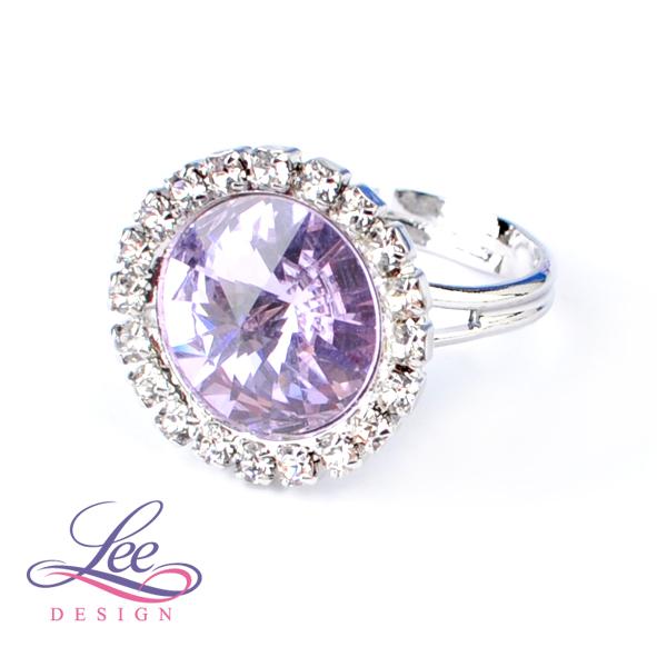 Prsten se Swarovski® crystals Daisy Violet 3ddc080179b