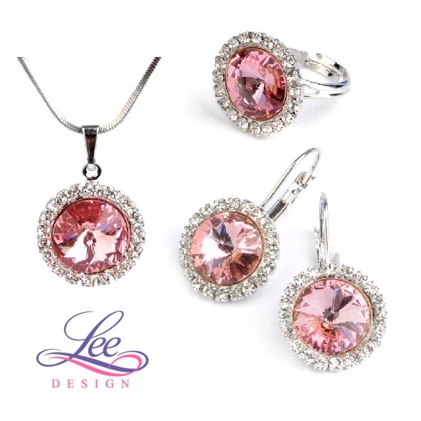 Sada šperků se Swarovski® crystals Daisy Light Rose ab20b0241ab
