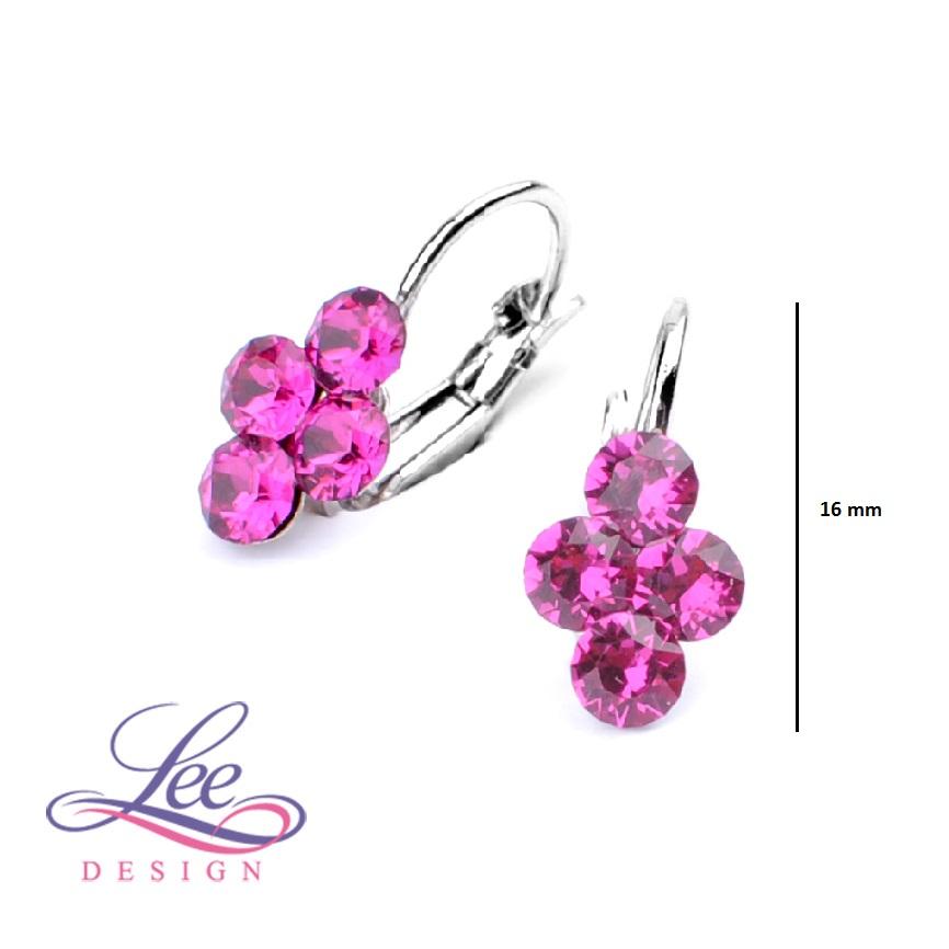 Dětské náušnice se Swarovski® crystals Lily Fuchsia 1c9b1a3ae48