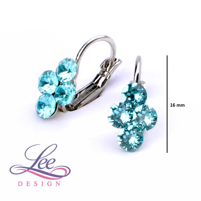 Dětské náušnice se Swarovski® crystals Lily Light Turquoise 65498da8e2a