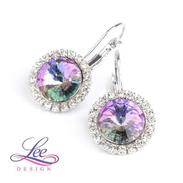 Náušnice s krystaly Swarovski Daisy Crystal Vitrail Light b7c6e985032