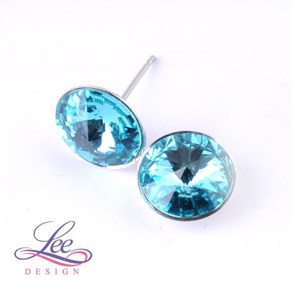 Náušnice Swarovski Elements Rivoli Light Turquoise 12 mm PU f2d027c07fe