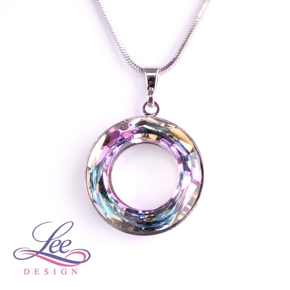 Náhrdelník Swarovski Elements Cosmic Ring Crystal Vitrail Light 20 mm b5ac9bc418f