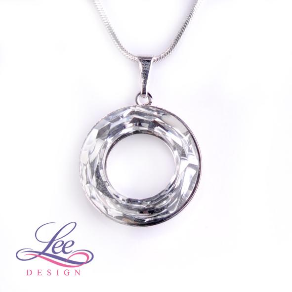 Náhrdelník Swarovski Elements Cosmic Ring Crystal CAL 20 mm c5ab07ab54c