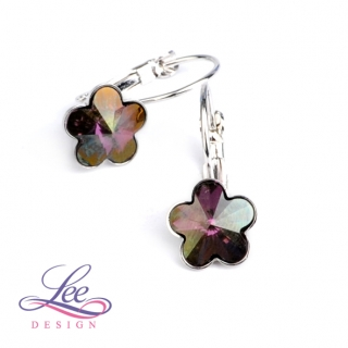 Náušnice Swarovski Elements Kytičky Crystal Lilac Shadow 10 mm KL