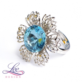 Prsten Swarovski Elements Vanesa s Rivoli Aquamarine 12 mm