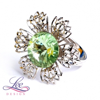 Prsten Swarovski Elements Vanesa s Rivoli Chrysolite 12 mm