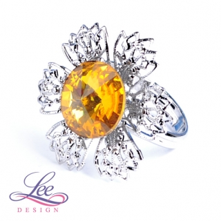 Prsten Swarovski Elements Vanesa s Rivoli Sunflower 12 mm