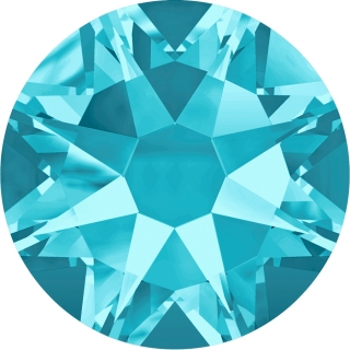 Swarovski Elements 2088 Xirius Rose Foiled (BAL) - Aquamarine (202)