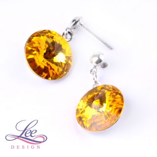 Náušnice Swarovski Elements Rivoli Sunflower 14 mm BI