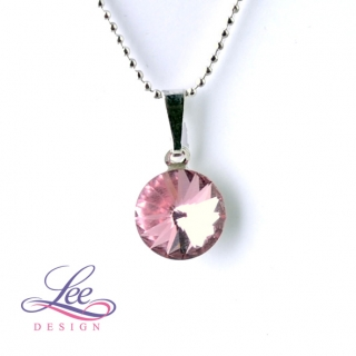 Náhrdelník Swarovski Elements Rivoli Light Rose 10 mm
