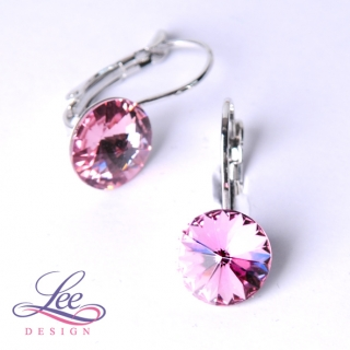 Náušnice Swarovski Elements Rivoli Light Rose 10 mm KL