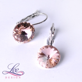 Náušnice Swarovski Elements Rivoli Vintage Rose 12 mm KL