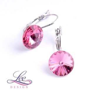 Náušnice Swarovski Elements Rivoli Rose 12 mm KL