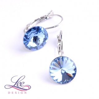 Náušnice Swarovski Elements Rivoli Light Sapphire 12 mm KL