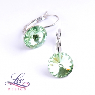 Náušnice Swarovski Elements Rivoli Chrysolite 12 mm KL