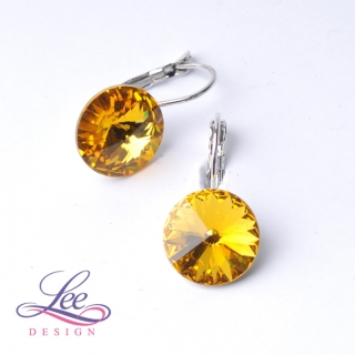Náušnice Swarovski Elements Rivoli Sunflower 12 mm KL