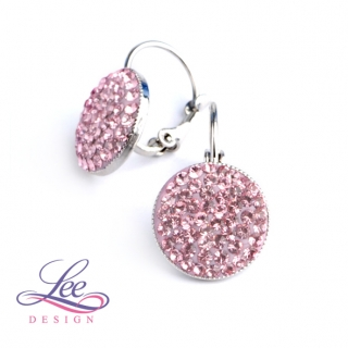 Náušnice se Swarovski® crystals Lee Ella KL12 Light Rose