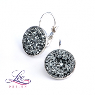 Náušnice se Swarovski® crystals Lee Ella KL12 Crystal Silver Night