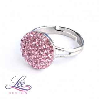 Prsten se Swarovski® crystals Lee Ella 12 Light Rose