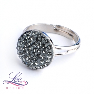 Prsten se Swarovski® crystals Lee Ella 12 Crystal Silver Night