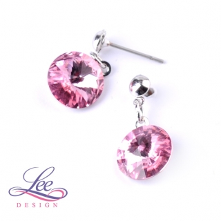 Náušnice se Swarovski® crystals Rivoli 10BI Light Rose