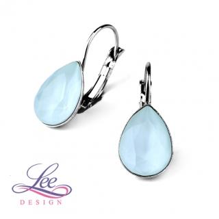 Náušnice se Swarovski® crystals Slza KL Crystal Powder Blue ea144b7deb6