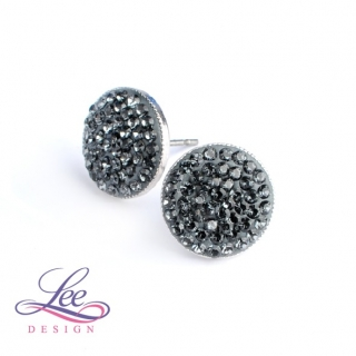 Náušnice se Swarovski® crystals Lee Ella PU12 Crystal Silver Night