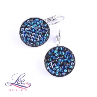 Náušnice ROCKS Crystal Bermuda Blue 15 mm
