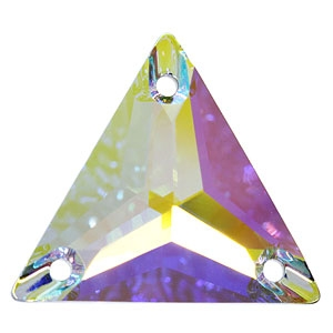 Triangle Sew-on 16 mm (3270) - Crystal AB