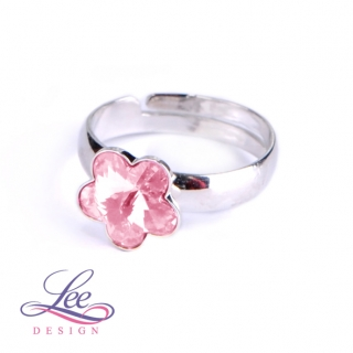 Prsten Swarovski Elements Kytička Light Rose 10 mm